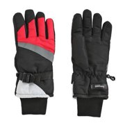 Aquarius Girls Black & Pink Thinsulate Snow & Ski Gloves Wrist Strap