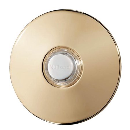 Polished Brass Handbell - Broan Nutone Door Bell Chime PB41LBGL Polished Brass