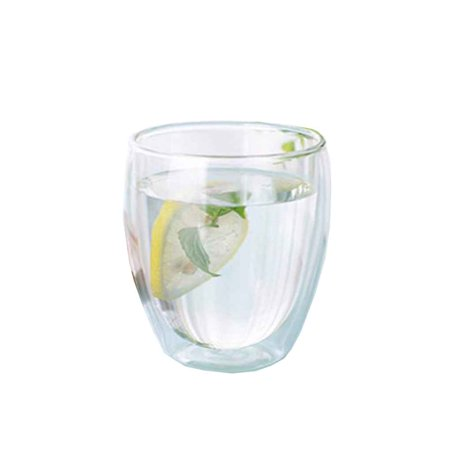 Joyfeel Clearance 250/350/450ML Clear Double Layer Crystal Tea Cup Resistant Heat Milk Thermal Insulation