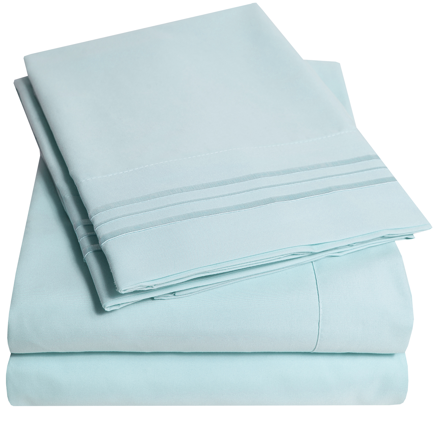 1800 Thread Count 4 Piece Deep Pocket Bedroom Bed Sheet Set