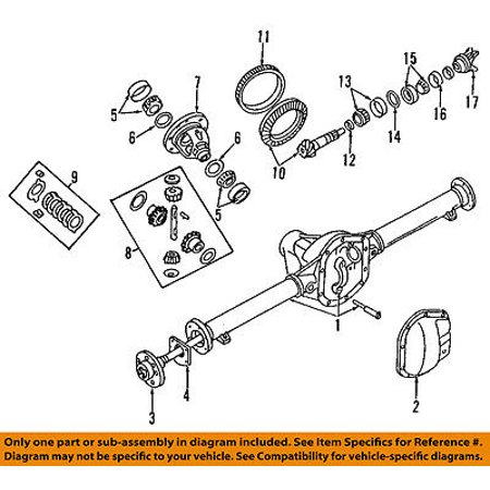 Differential Output Yokes (Dodge CHRYSLER OEM Rear Differential-Pinion Yoke Companion Flange 5016791AA )