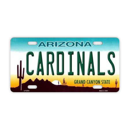 Metal Vanity License Plate Tag Cover - Phoenix Cardinals - Football Team - Official Arizona State Plate - 12