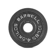 """10 lbs. 2"""" Black Olympic Weight Plate - Single (Professional Gym Quality) by CAP Barbell"""