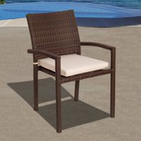 Atlantic Liberty All Weather Wicker Cushioned Armchair - Set of 4