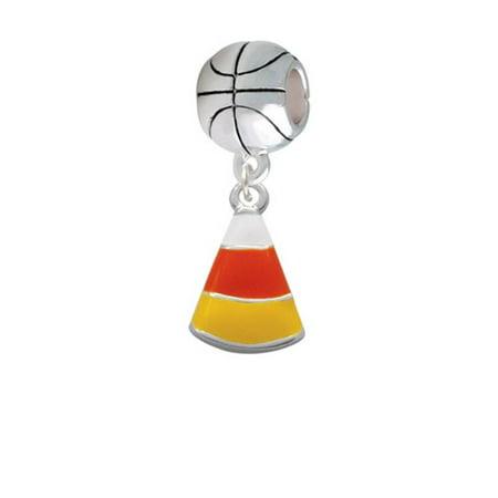 Candy Corn - Basketball Charm Bead - Candy Charm