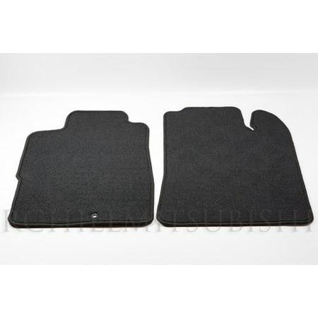 2000-2005 Mitsubishi Eclipse Front Carpeted Floor Mats AEC01XFB02 BLACK OEM NEW (Mitsubishi Front Mat)