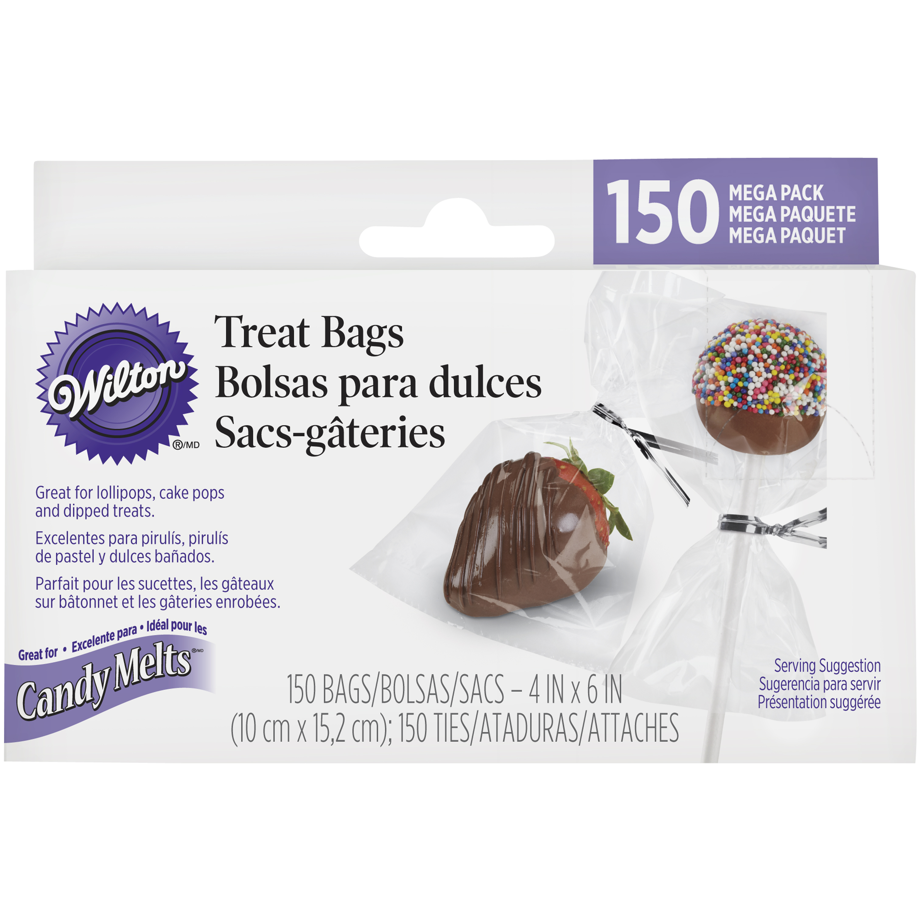 Wilton Party Treat Bags with Ties, Mega Pack 150 count