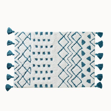 """Better Homes and Gardens Inez Washable Bath Rug, 20"""" x 30"""", Teal"""