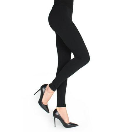 MeMoi Mullida Black Fleece-Lined Legging - Everyday Winter Basics by MeMoi L/XL / Black