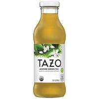 Tazo Organic Jasmine Green Iced Tea, Pure Gingerly Jasmine Flavor, 13.8 Fl Oz Glass Bottles (8-Pack)
