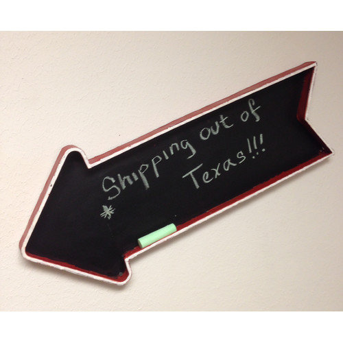 Metrotex Designs Hand-Made Wall Mounted Magnetic Chalkboard, 2.75' x 1'
