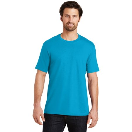 District Made® Mens Perfect Weight® Crew Tee. Dt104 Bright Turquoise 3Xl - image 1 de 1