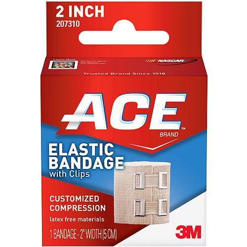 ACE Elastic Bandage w/clips, 2 in, 209608