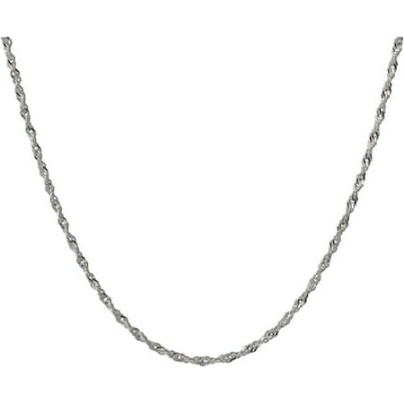 Women's Sterling Silver Twisted Singapore - Beaded Twisted Necklace