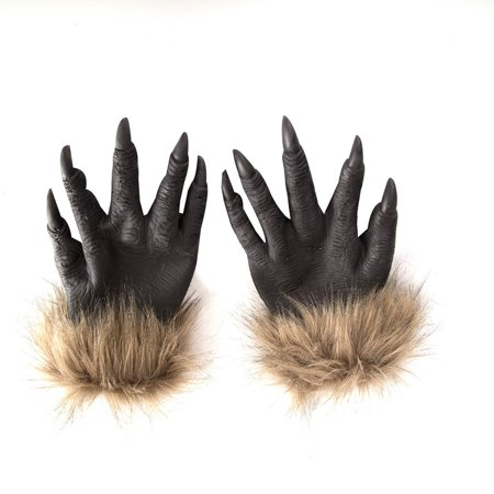 fashionhome Halloween Wolf Hands Claws Latex Horrific Costume Accessory Gloves Creepy Cosplay Tool Scary Decorations - image 2 of 8