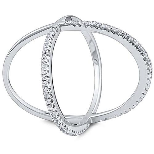 Doma Jewellery SSRZ7189 Sterling Silver Ring With Cubic Zirconia, Size 9