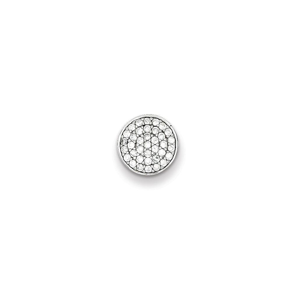 Sterling Silver Diamond Pendant. Carat Wt- 0.25ct
