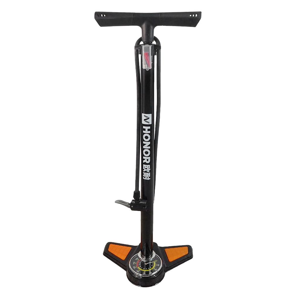 Bike Floor Air Pump Portable Bicycle Ball Inflator Kit W// Gauge Foot 120//140PSI