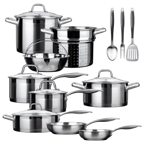 SECURA Duxtop SSIB-17 Professional 17 piece Stainless Ste...