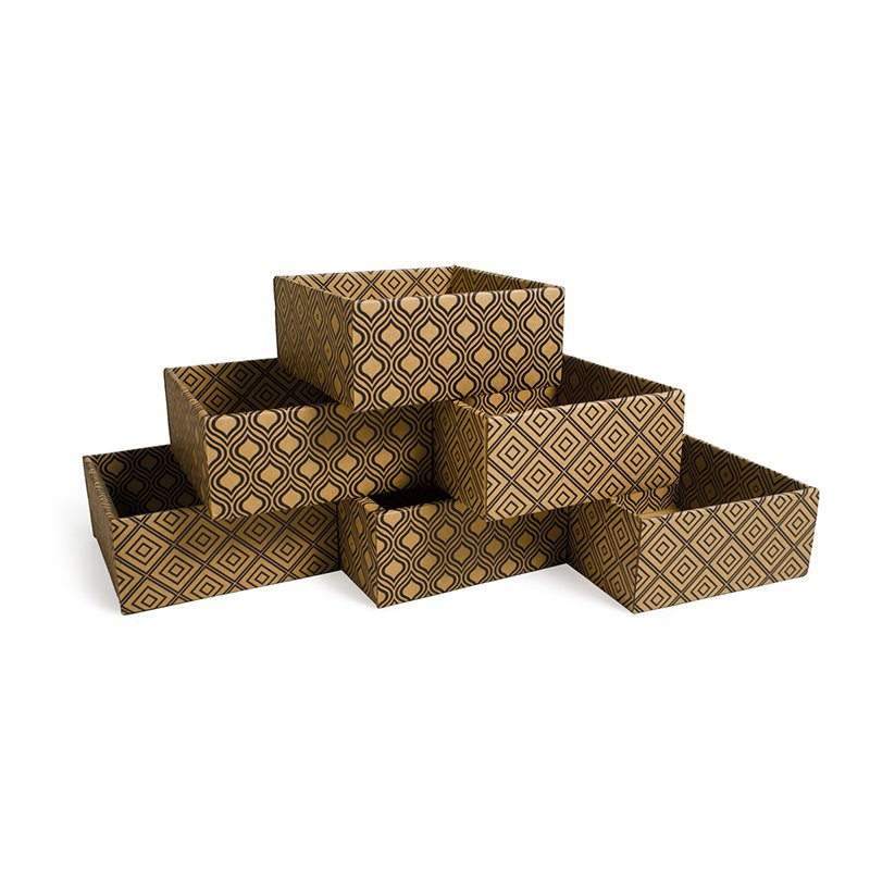 Sprout SB001-MD6 Diamond Print Decorative Storage Boxes