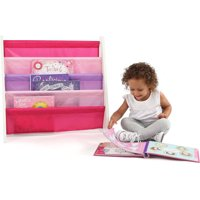 Tot Tutors Kids Book Rack Storage Bookshelf (White/Pink & Purple)