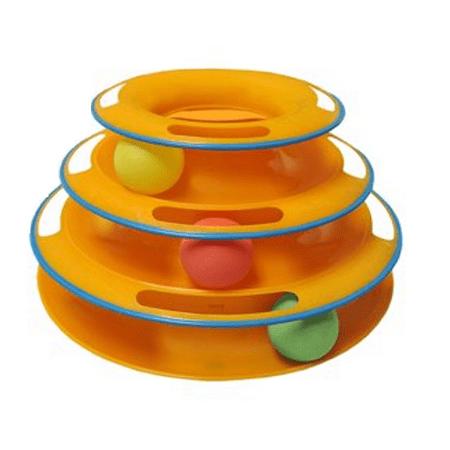 Feline Frenzy Cat Toy - Purrfect Feline Titan's Tower Interactive Ball Cat Toy