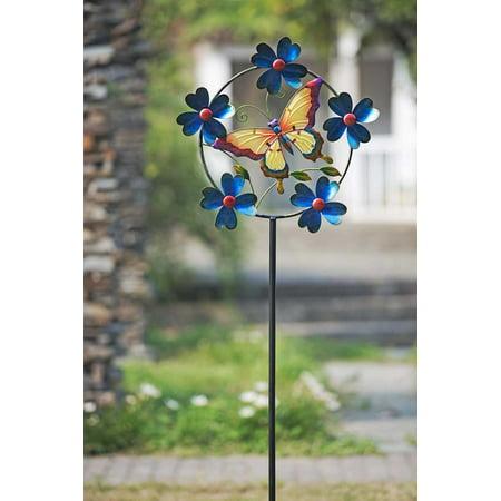 Sunjoy Butterfly Kinetic Spinner 4pk ()
