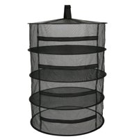 Hanging Basket 8 Layers with Zipper Folding Dry Rack Herb Drying Net Dryer Bag Mesh For Herbs Flowers Buds Plants