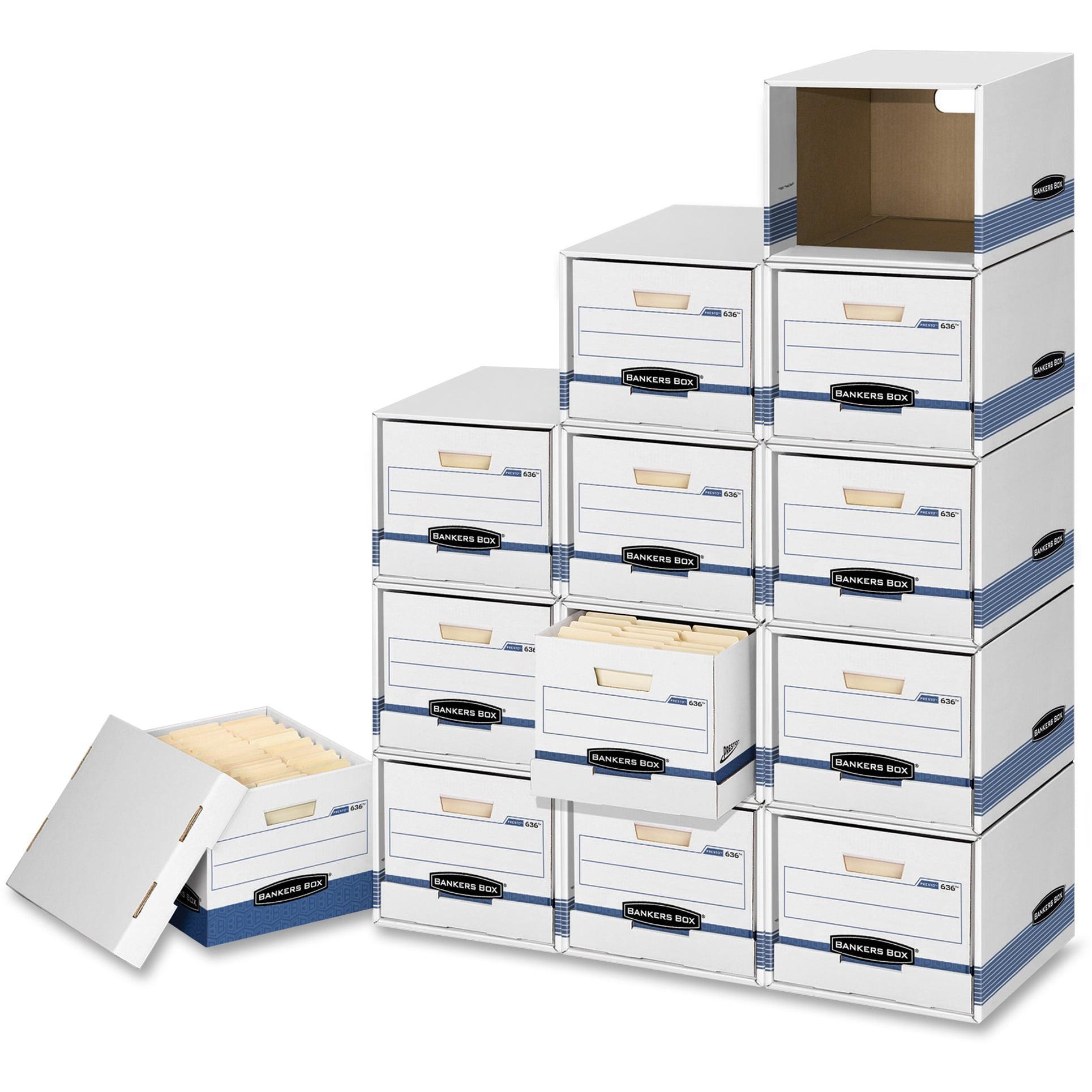 Bankers Box, FEL01626, File/Cube Box Shells, 6 / Carton, White,Blue