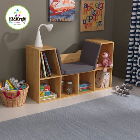 KidKraft Bookcase with Reading Nook - Natural