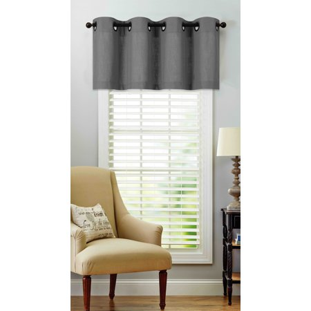 - Regal Home Collections Oversized Grommet Top Window Valance - Gray