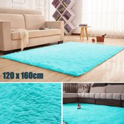 63x47.2''/160x120cm 5 Colors Modern Soft Non-Slip Fluffy Floor Rug Anti-skid Shag Shaggy Area Rug Bedroom Dining Room Carpet Yoga Mat Child Play Mat