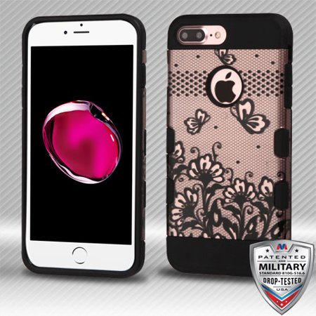 For iPhone 8+, 7 Plus TUFF Trooper Hybrid Shockproof Armor Protector Case Cover](Affordable Trooper Armor)