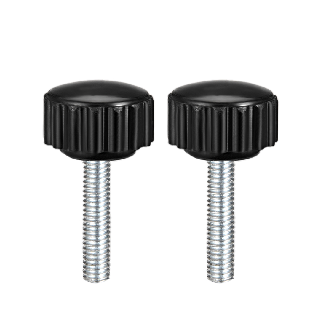 M4 x 20mm Male Thread Knurled Clamping Knobs Grip Thumb Screw on Type  5 Pcs