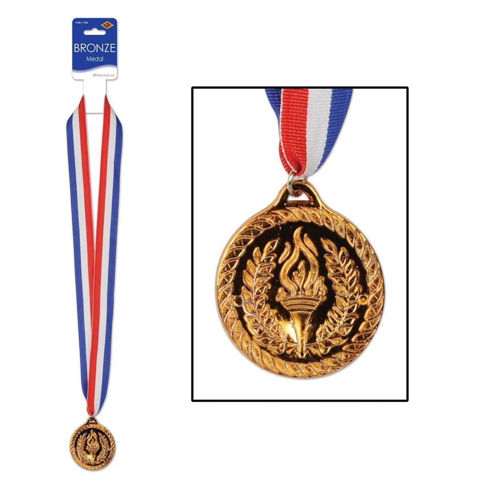(Pack of 12) Bronze Medal with Ribbon General