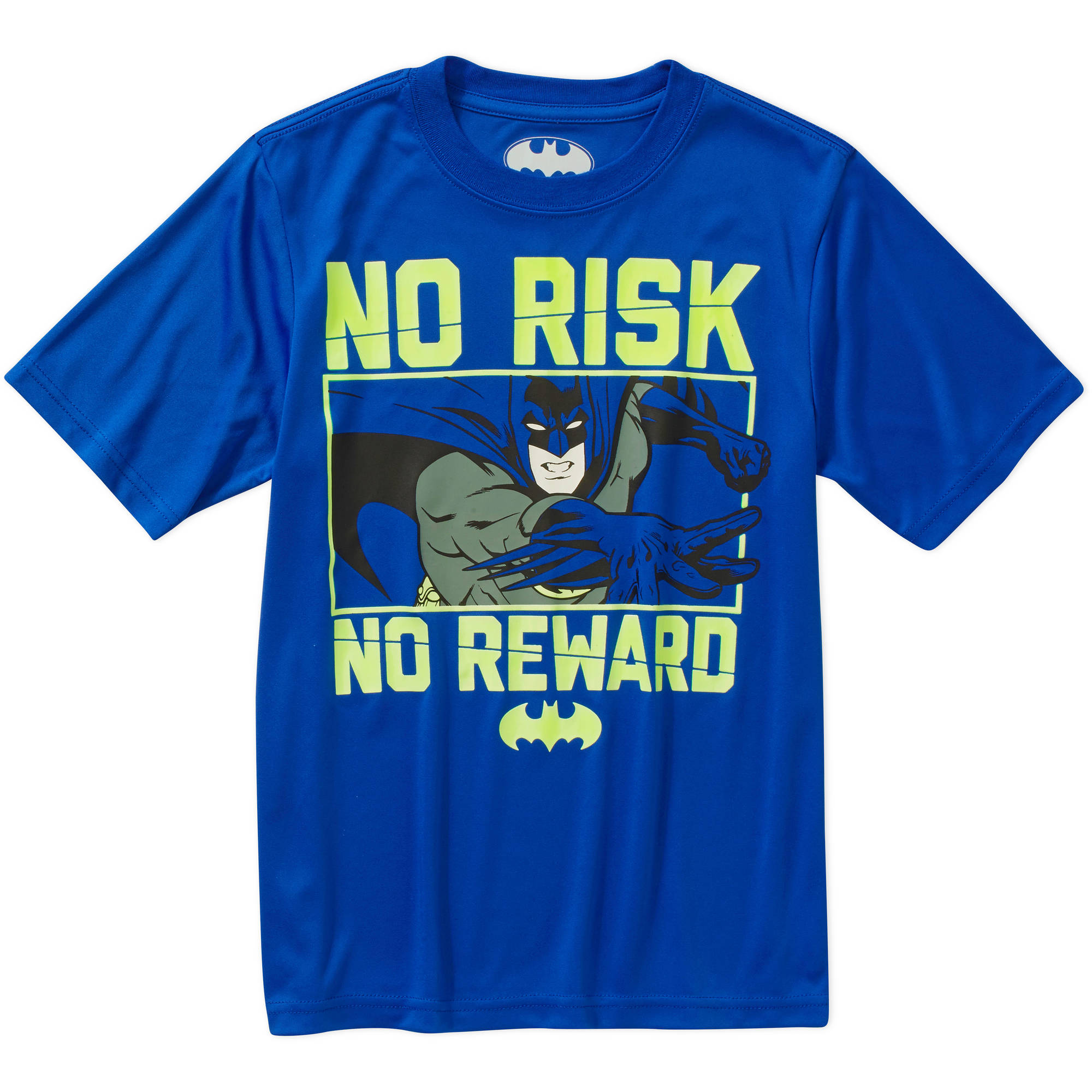 DC Comics Batman No Risk No Reward Boys' Poly Graphic Tee