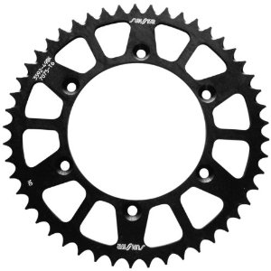 Sunstar Aluminum Works Triplestar Rear Sprocket 50 Tooth Black Fits 01-12 Yamaha WR250F