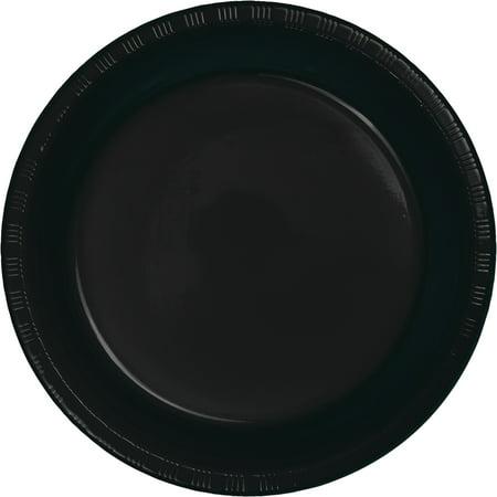 Club Pack of 240 Jet Black Premium Plastic Party Dinner Plates 9