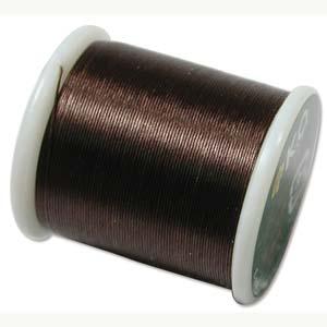 Japanese Nylon Beading K.O. Thread for Delica Beads - Brown 50 Meters