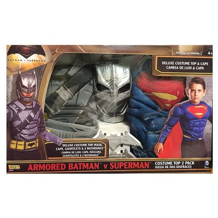 Armored Batman V Superman Costume Top 2 Pack (Batman And Superman Costume)