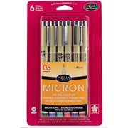 micron 6 pens fine line color set