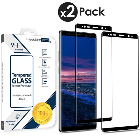 Galaxy Note 8 Screen Protector Tempered Glass, FREEDOMTECH 3D Curved Full Screen Coverage For Samsung Galaxy Note 8 Tempered Glass Screen Protector (6.3