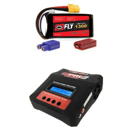 Venom Fly 30C 2S 1300Mah 7 4V Lipo Battery With Uni 2 0 Plug And Venom Pro Charger 3 Lipo And Nimh Battery Charger Money Saving Combo