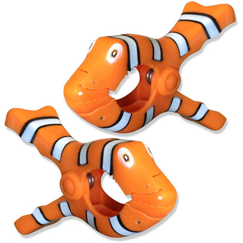 Clown Fish BocaClips by O2COOL Set of two Beach... Clips Beach Towel Holders