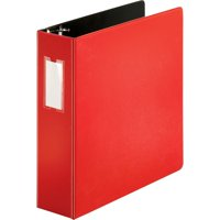"MyOfficeInnovations D-Ring Binder w/Label Holder Hvy-Dty 3"" Red 3254419"