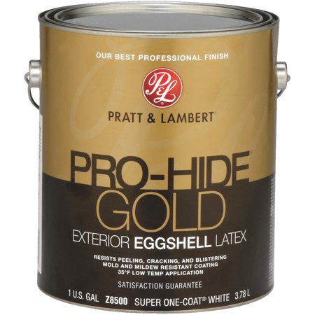 pratt & lambert pro-hide gold latex eggshell exterior house paint