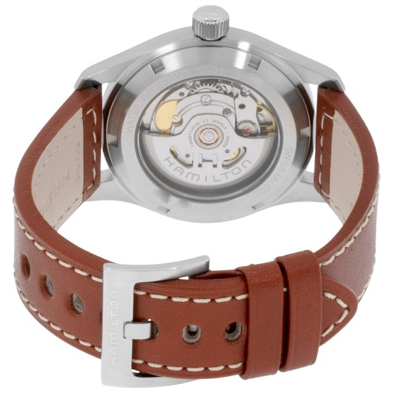 c4e9f9cd2fe Automatic movement and water resistant up to 100 meters. Style  casual  watches. Khaki Field series. Hamilton Khaki Field Silver Dial Leather Strap  Men s ...