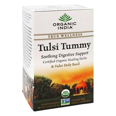 Organic India - Vrai Wellness Tusli Tummy Thé - 18 sachets de thé
