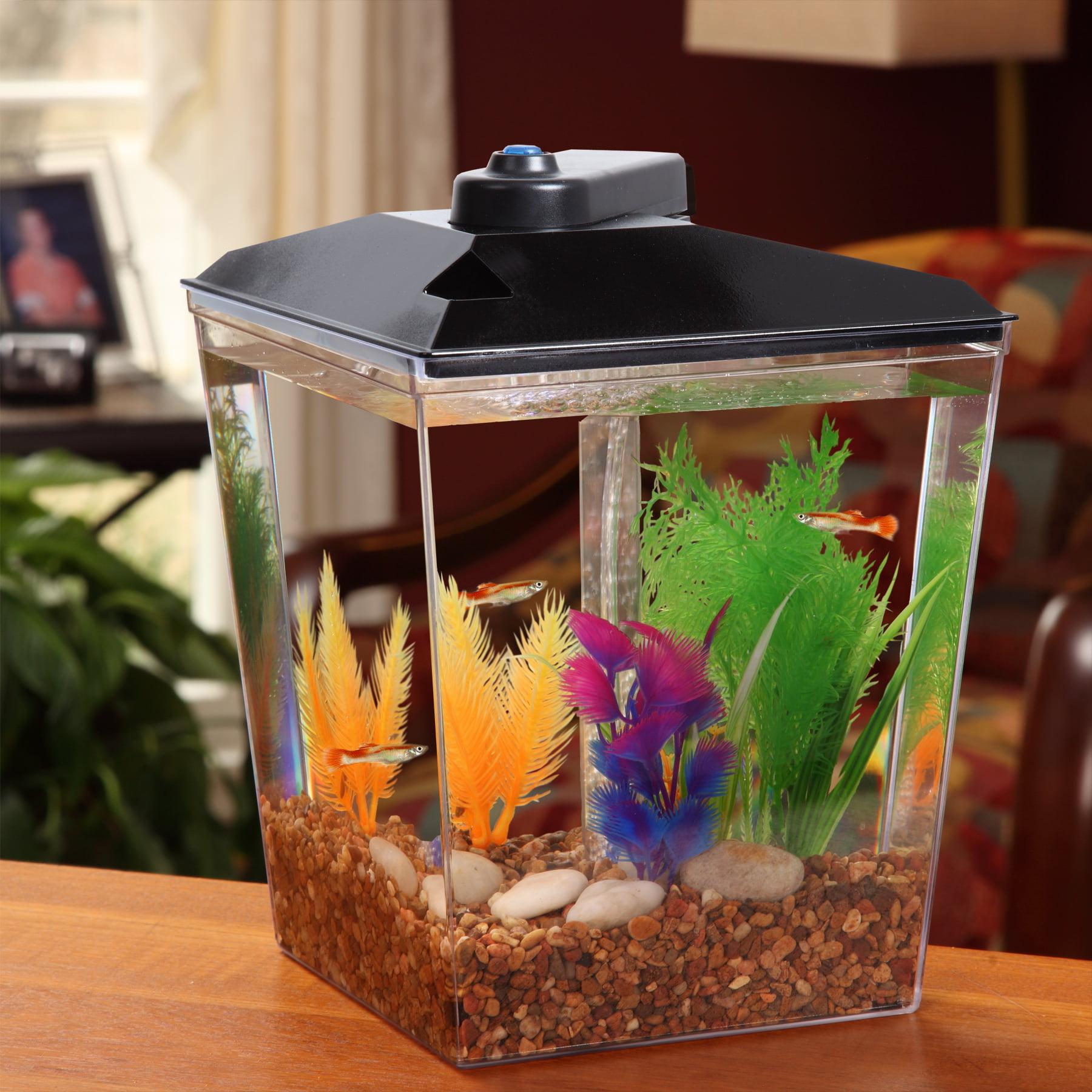 Aqua Culture Aquarium Kit LED Lighting and Internal Power Filter 1