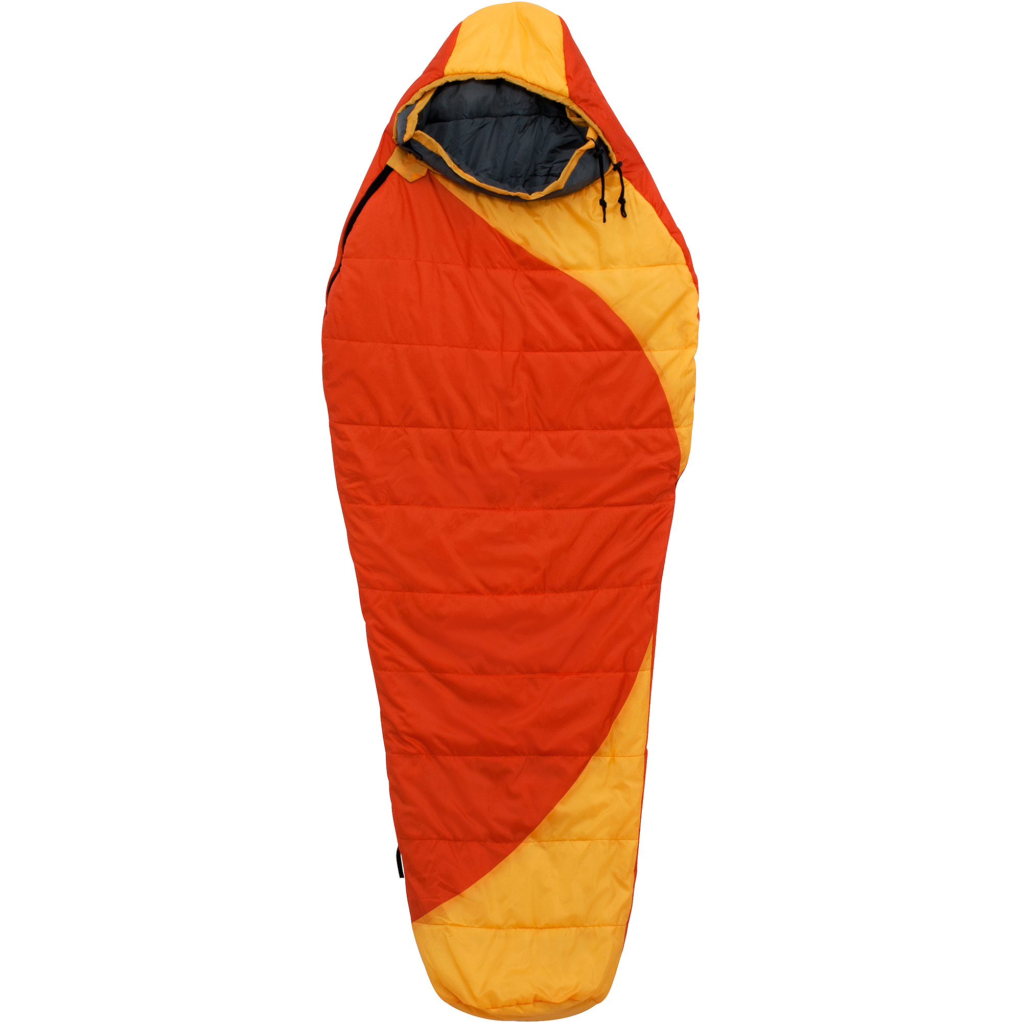Click here to buy Ozark Trail 50F Thermolite Quallo Mummy Double Sleeping Bag, Left-Side Zipepr.